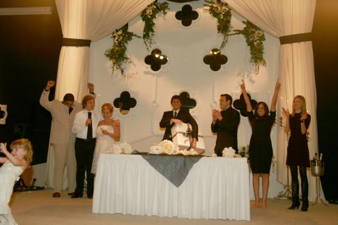Derek Duncan, Catherine Reitman, Gareth Reynolds, Ben Gleib, and Steve Byrne in The Real Wedding Crashers (2007)