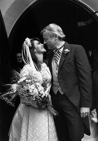 Natalie Wood with her husband Richard Gregson on their wedding day, May 30, 1969.