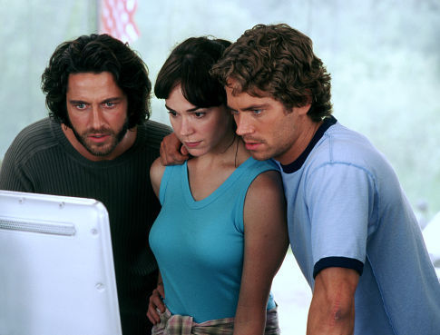 (Left to right) Gerard Butler, Frances O'Connor and Paul Walker.