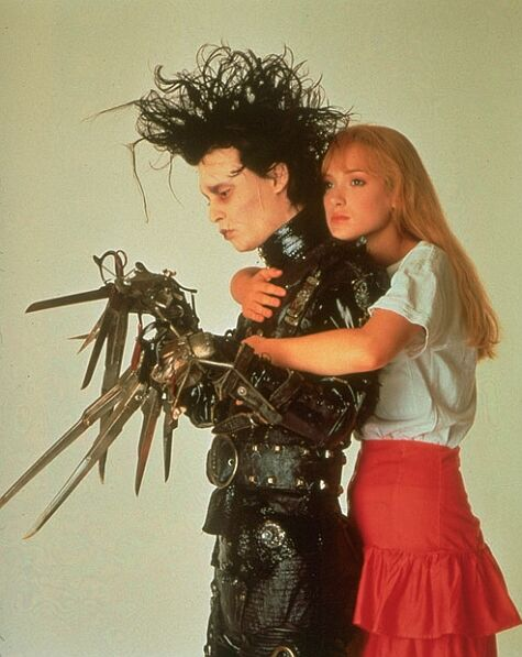 Edward and Kim. From Edward Scissorhands (1990) (http://www.imdb.com/title/tt0099487/).