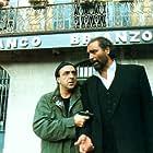 Diego Abatantuono and Silvio Orlando in Figli di Annibale (1998)