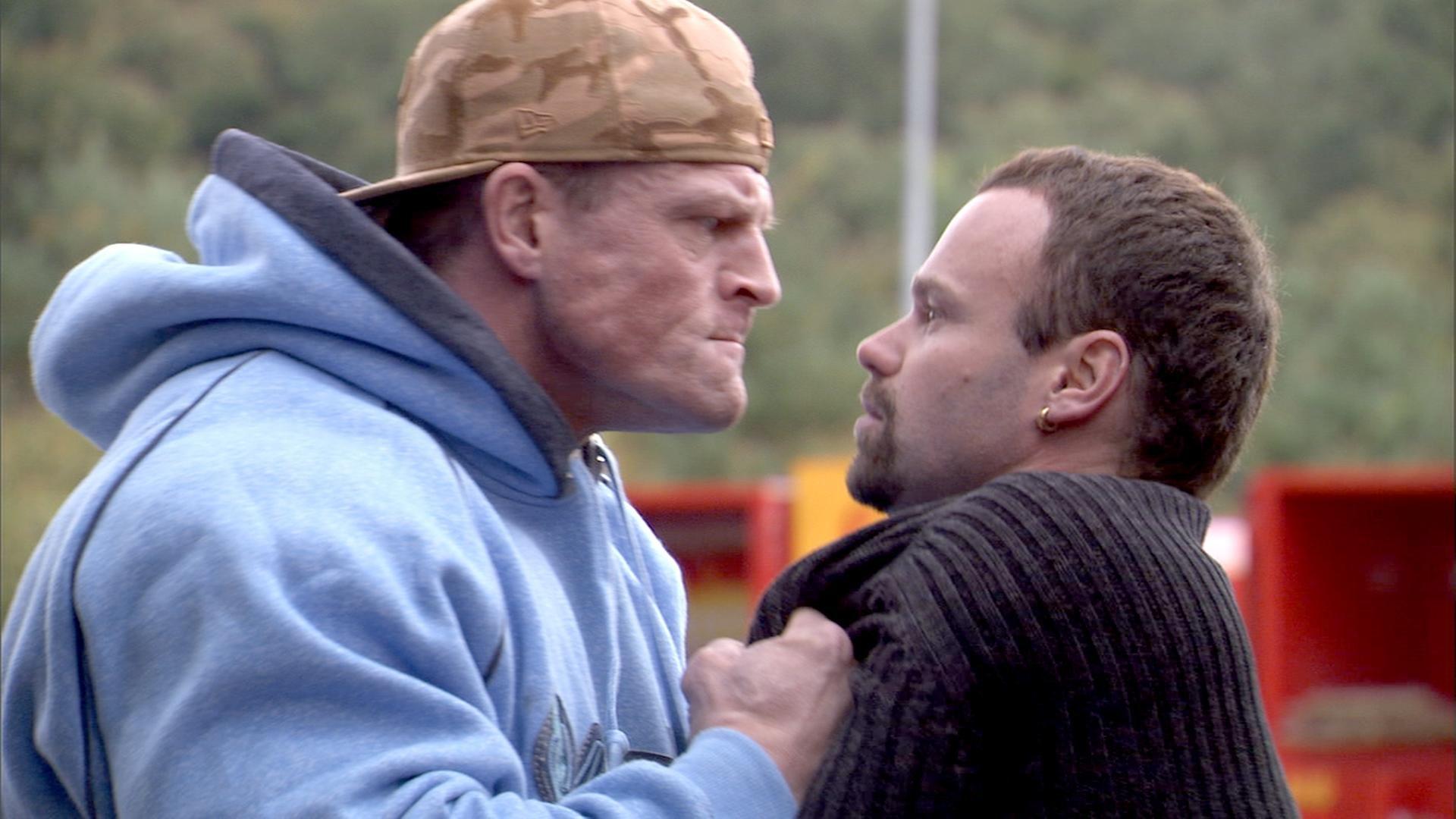 Mick Øgendahl and Kim Kold in Blå mænd (2008)