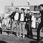 John Travolta, Olivia Newton-John, Barry Pearl, Michael Tucci, and Kelly Ward in Grease (1978)
