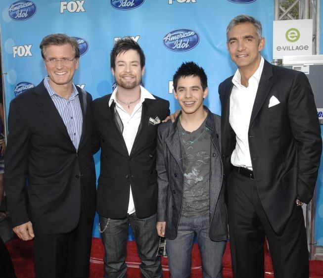 Peter Liguori, David Cook, and David Archuleta in American Idol: The Search for a Superstar (2002)