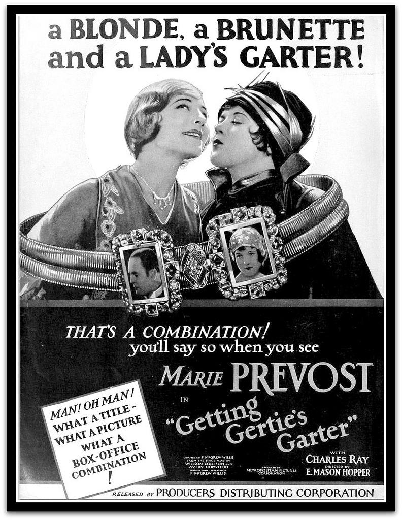 Marie Prevost, Sally Rand, Charles Ray, and Fritzi Ridgeway in Getting Gertie's Garter (1927)