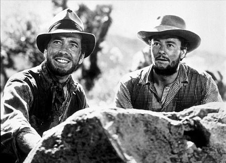 """The Treasure of the Sierra Madre"" Humphrey Bogart and Tim Holt 1948 Warner Bros."