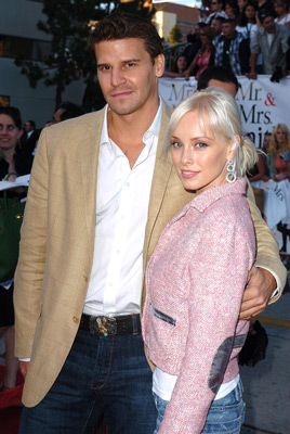 David Boreanaz and Jaime Bergman at an event for Mr. & Mrs. Smith (2005)