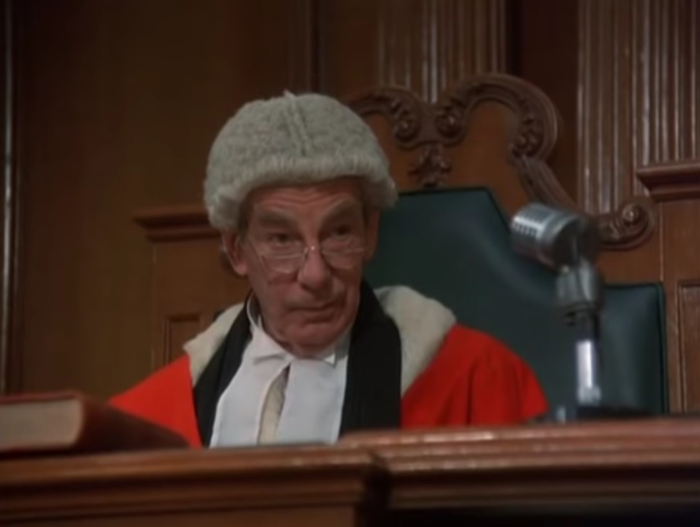 Michael Gough in Witness for the Prosecution (1982)