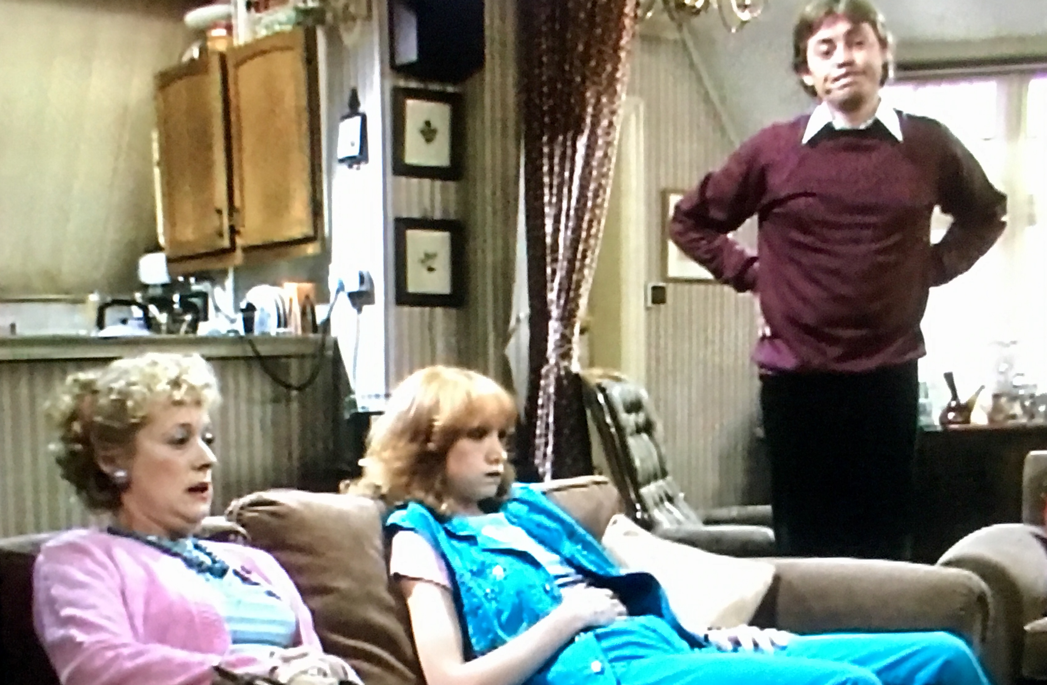 Hywel Bennett, Belinda Sinclair, and Josephine Tewson in Shelley (1979)