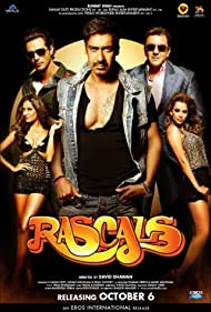 Sanjay Dutt, Ajay Devgn, Arjun Rampal, Kangana Ranaut, and Lisa Haydon in Rascals (2011)