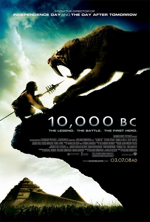 10,000 B.C (2008) Dual Audio Hindi 350MB BluRay 480p x264 ESubs