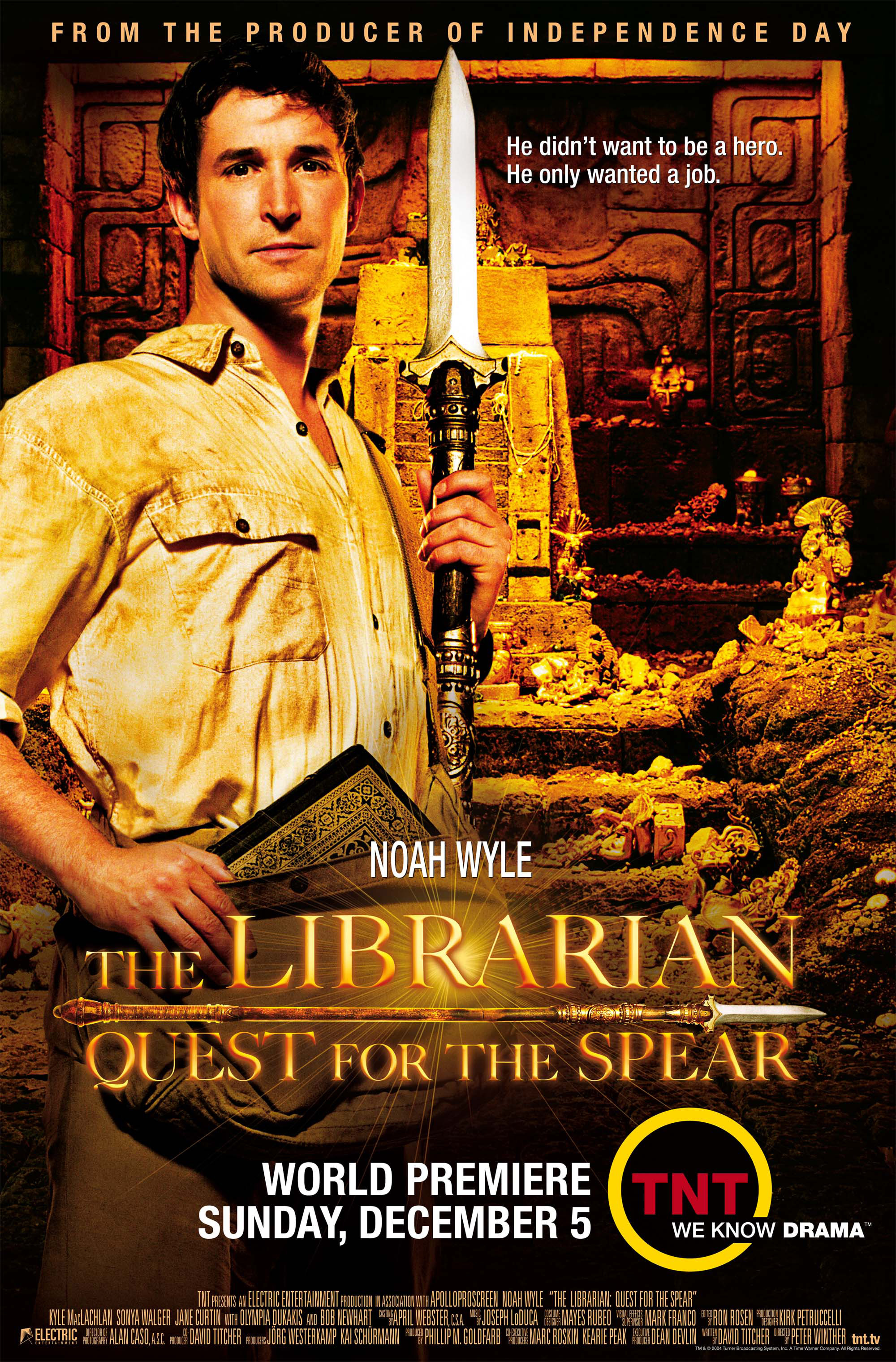 The Librarian Quest For The Spear Tv Movie 2004 Imdb
