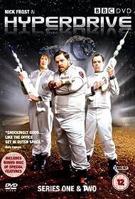 Kevin Eldon, Nick Frost, and Miranda Hart in Hyperdrive (2006)