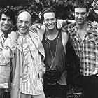 Patrick Stewart, Steven Weber, Bryan Batt, and Michael T. Weiss in Jeffrey (1995)