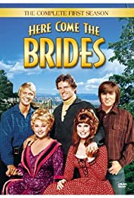 Joan Blondell, Robert Brown, Bridget Hanley, Bobby Sherman, and David Soul in Here Come the Brides (1968)