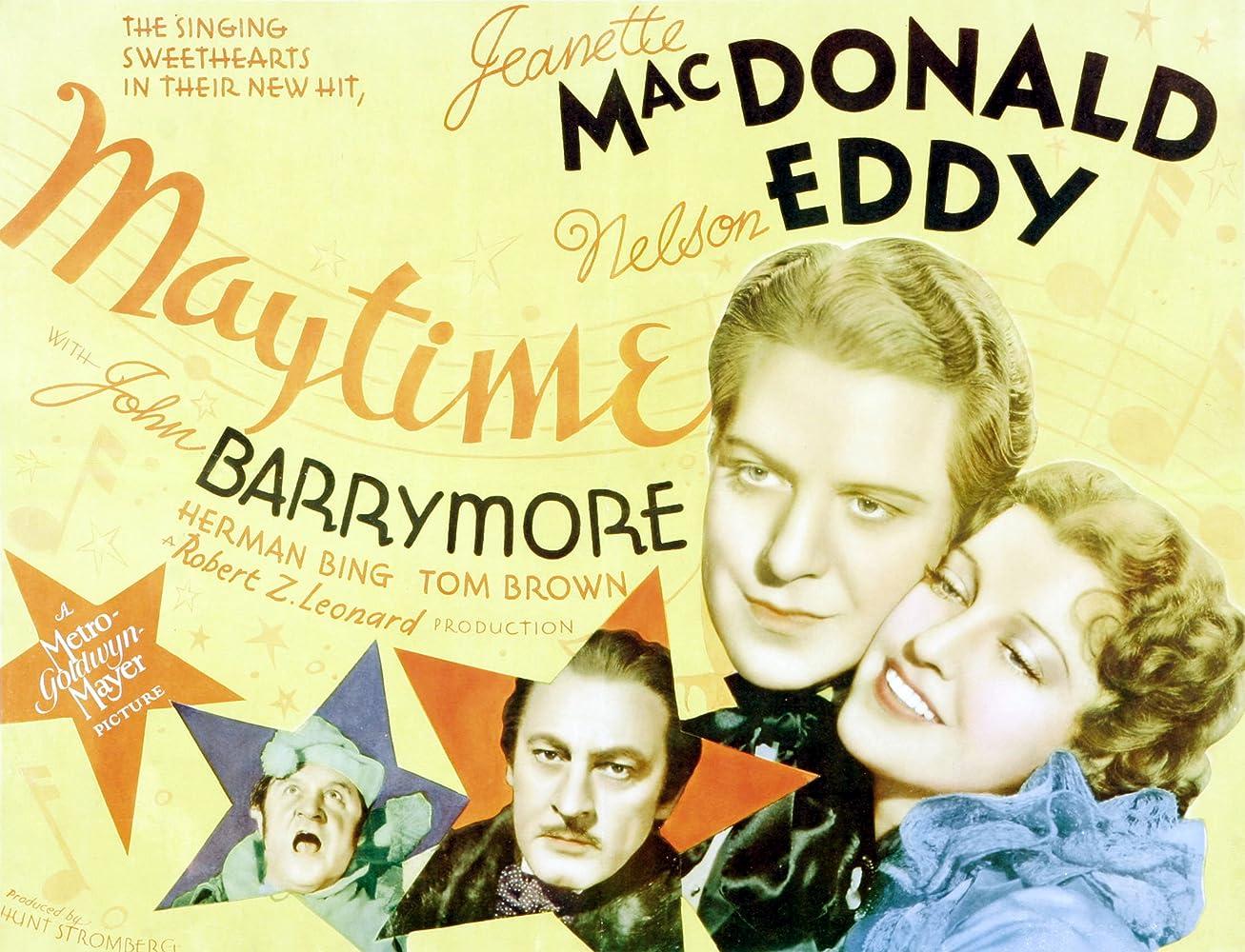 John Barrymore, Herman Bing, Nelson Eddy, and Jeanette MacDonald in Maytime (1937)