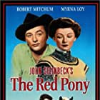 Robert Mitchum, Myrna Loy, and Peter Miles in The Red Pony (1949)