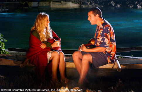 Drew Barrymore and Adam Sandler in 50 First Dates 2004