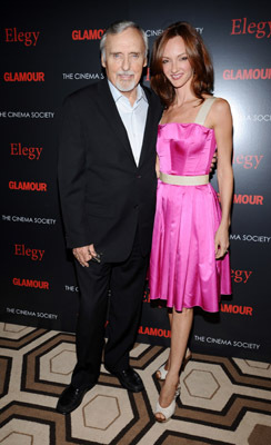 Dennis Hopper and Victoria Duffy at an event for Elegy (2008)