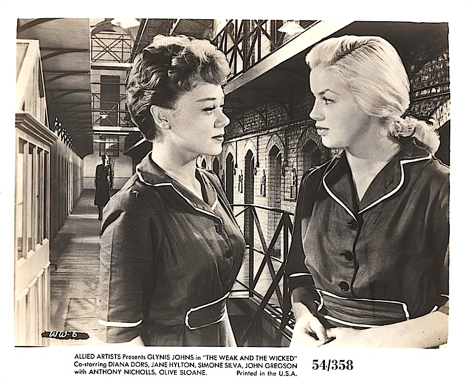 Diana       Dors and Glynis Johns in The Weak and the Wicked (1954)