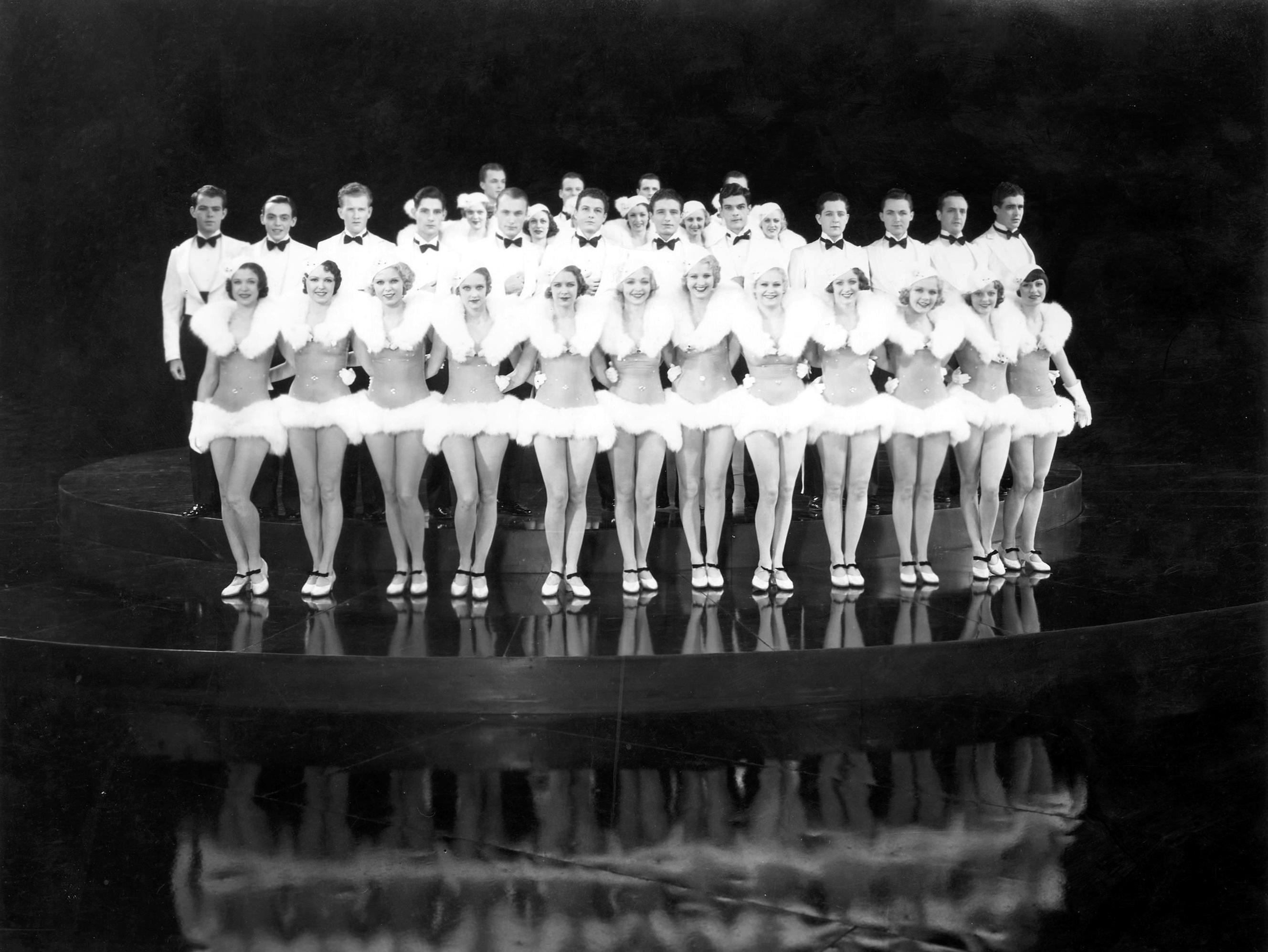 Loretta Andrews, Joan Barclay, Muriel Barrett, Lynn Browning, Edna Callahan, Maxine Cantway, Margaret Carthew, Virginia Dabney, Ruth Eddings, Mildred Dixon, Marie Arbuckle, and Azelie Cecil in 42nd Street (1933)