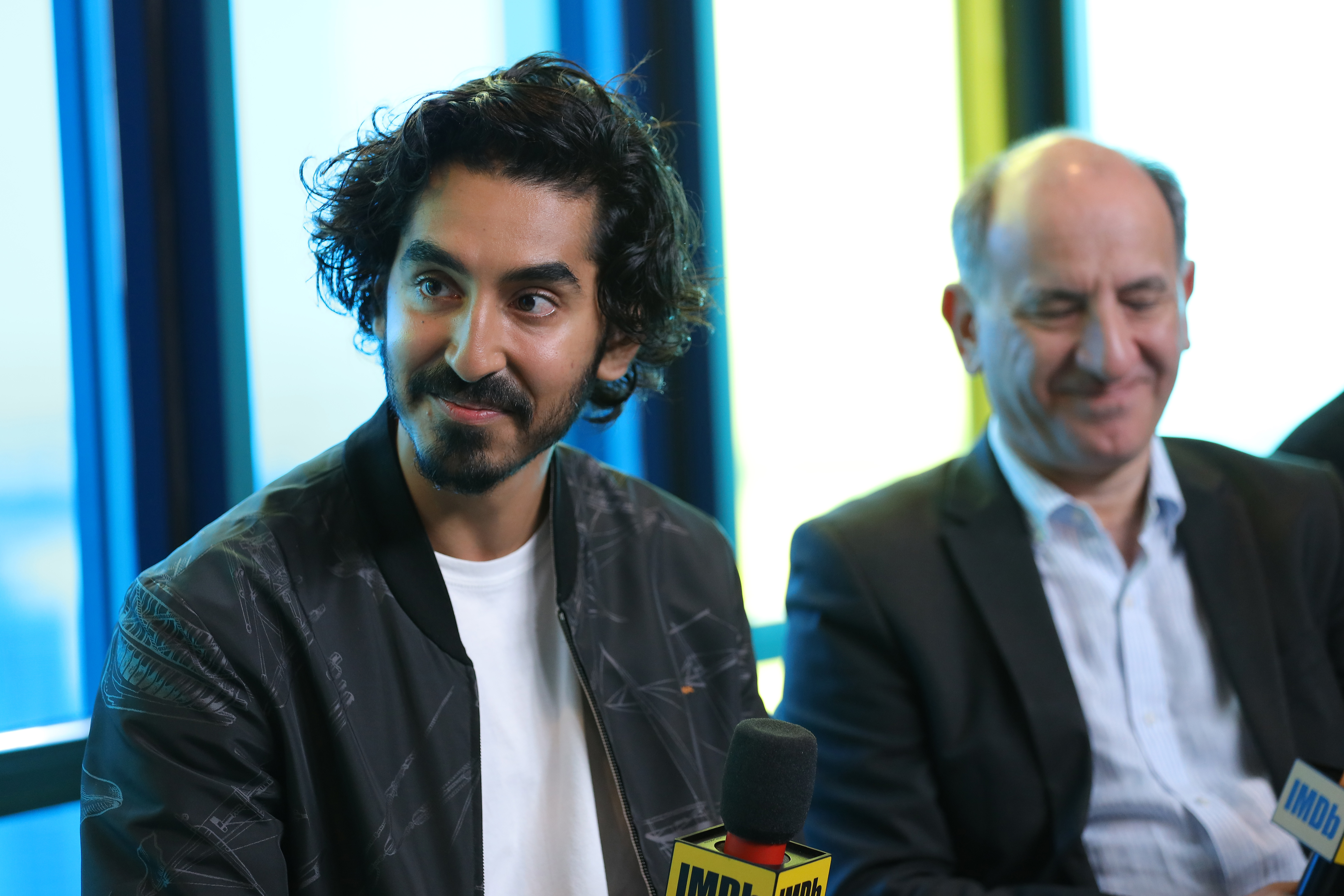 Armando Iannucci and Dev Patel at an event for The Personal History of David Copperfield (2019)