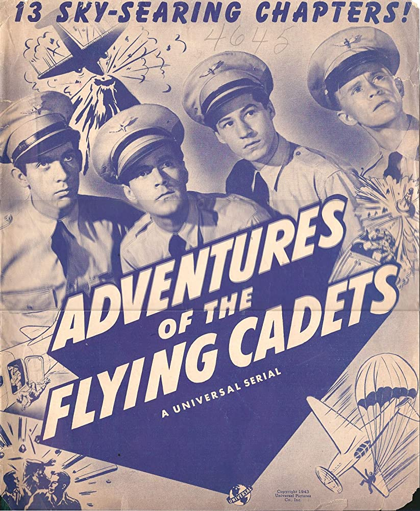 William 'Billy' Benedict, Johnny Downs, Bobby Jordan, and Ward Wood in Adventures of the Flying Cadets (1943)