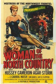 Rod Cameron and Ruth Hussey in Woman of the North Country (1952)