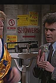 Anthony Michael Hall and Dennis Miller in Jimmy Breslin and Marvin Hagler/Level 42/E.G. Daily (1986)