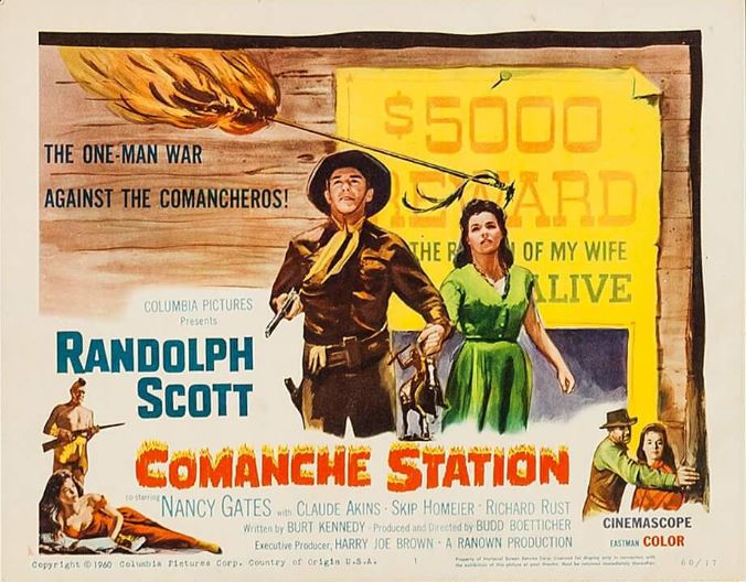 Randolph Scott and Nancy Gates in Comanche Station (1960)