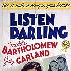 Judy Garland, Mary Astor, Freddie Bartholomew, and Walter Pidgeon in Listen, Darling (1938)