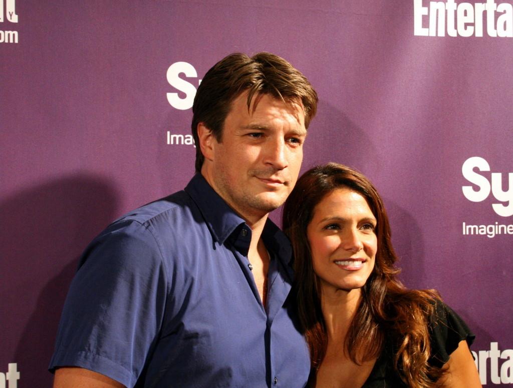 Nathan Fillion and Darla Delgado