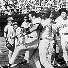 Tom Selleck and Dennis Haysbert in Mr. Baseball (1992)