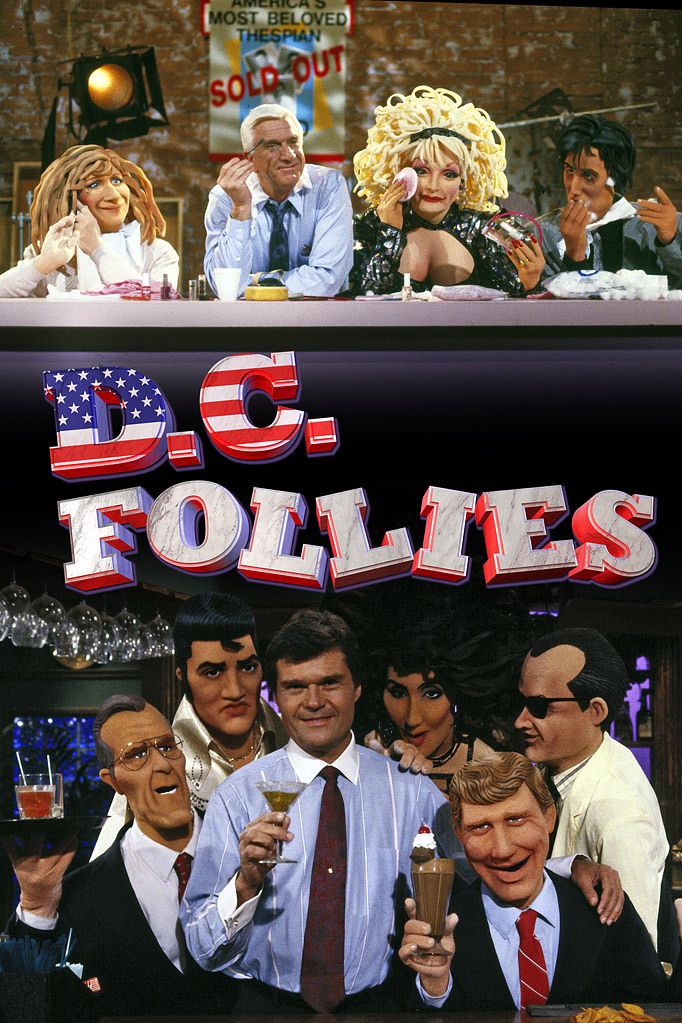 Leslie Nielsen, Fred Willard, and The Krofft Puppets in D.C. Follies (1987)