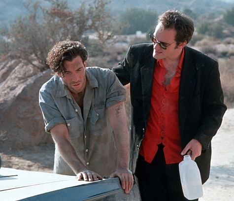 Quentin Tarantino and Dylan McDermott in Destiny Turns on the Radio (1995)