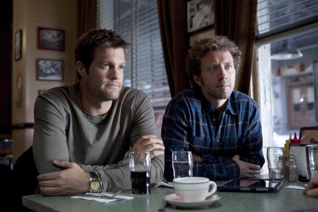 Geoff Stults and T.J. Thyne in The Finder (2012)