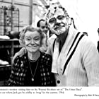 """Jack Lemmon with his mother on the set of """"Great Race, The"""" Photo taken in 1964."""