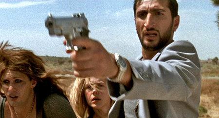 Geert (Alexander Skarsgard), Katherine (Julie Benz) and Omar (Fares Fares) in 'Kill Your Darlings'. Dir: Bjorne Larson