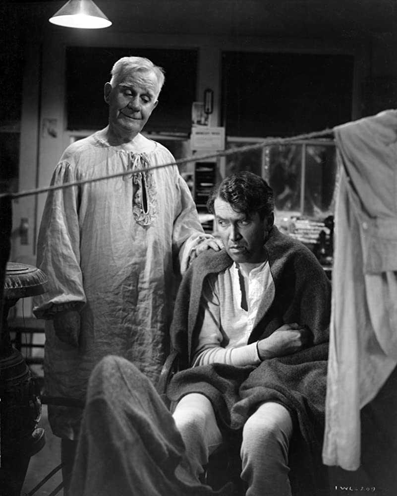 James Stewart and Henry Travers in It's a Wonderful Life (1946)