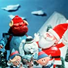 Stan Francis, Burl Ives, Larry D. Mann, Billie Mae Richards, and Paul Soles in Rudolph the Red-Nosed Reindeer (1964)