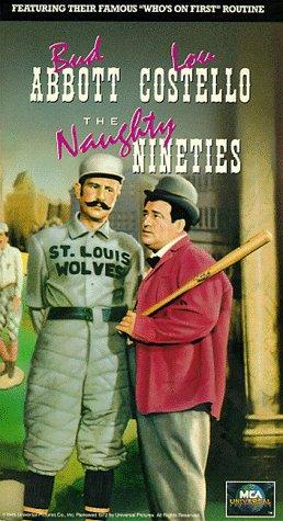 Bud Abbott and Lou Costello in The Naughty Nineties (1945)