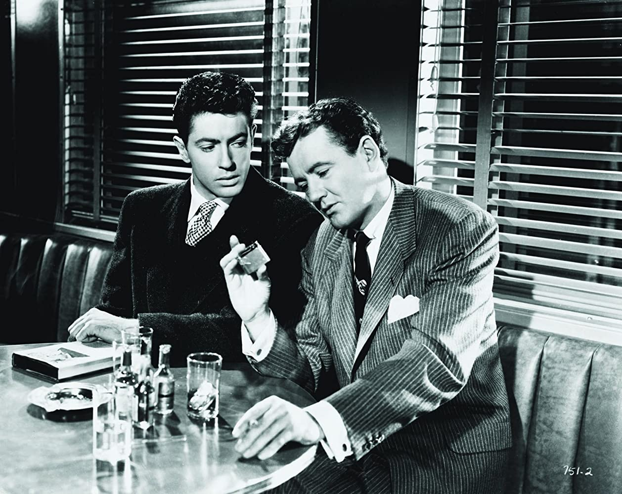 Farley Granger and Robert Walker in Strangers on a Train (1951)