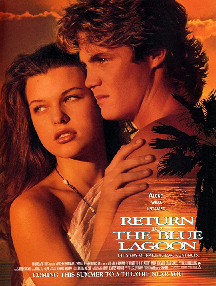Risultati immagini per RETURN TO THE BLUE LAGOON ( 1991 ) POSTER GIF
