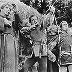 Richard Greene, Niall MacGinnis, and Richard Pasco in Sword of Sherwood Forest (1960)