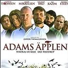 Nicolas Bro, Ali Kazim, Nikolaj Lie Kaas, Mads Mikkelsen, Paprika Steen, Ole Thestrup, and Ulrich Thomsen in Adams æbler (2005)