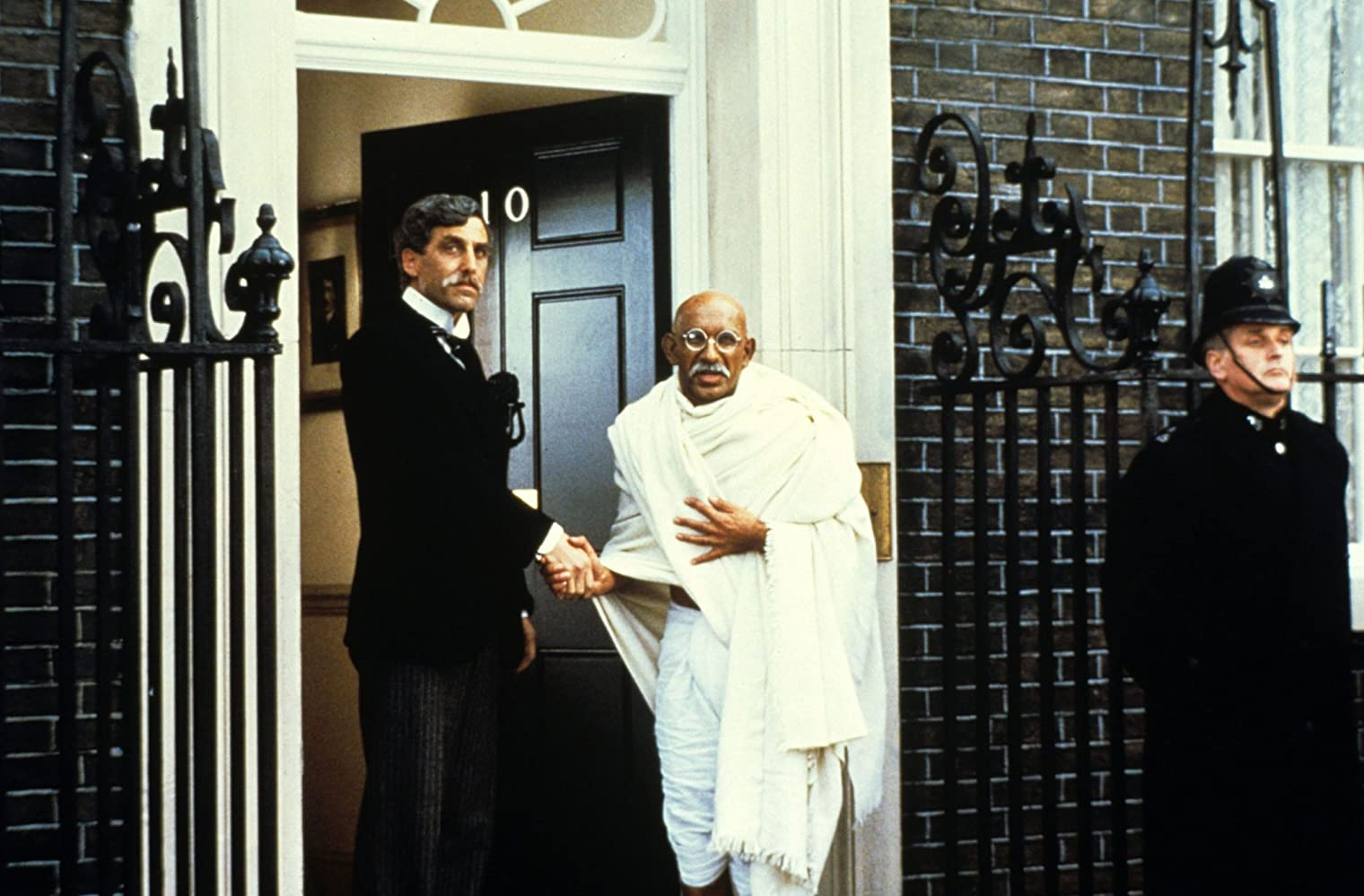 Ben Kingsley and Terrence Hardiman in Gandhi (1982)