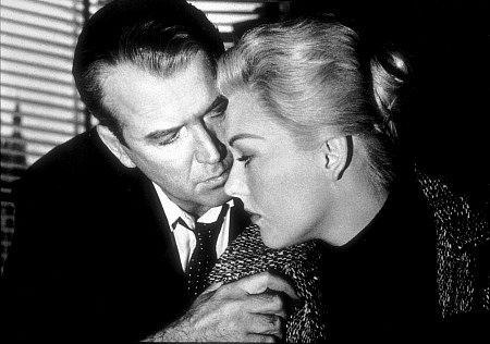"""Vertigo,"" James Stewart and Kim Novak. 1958 Paramount"