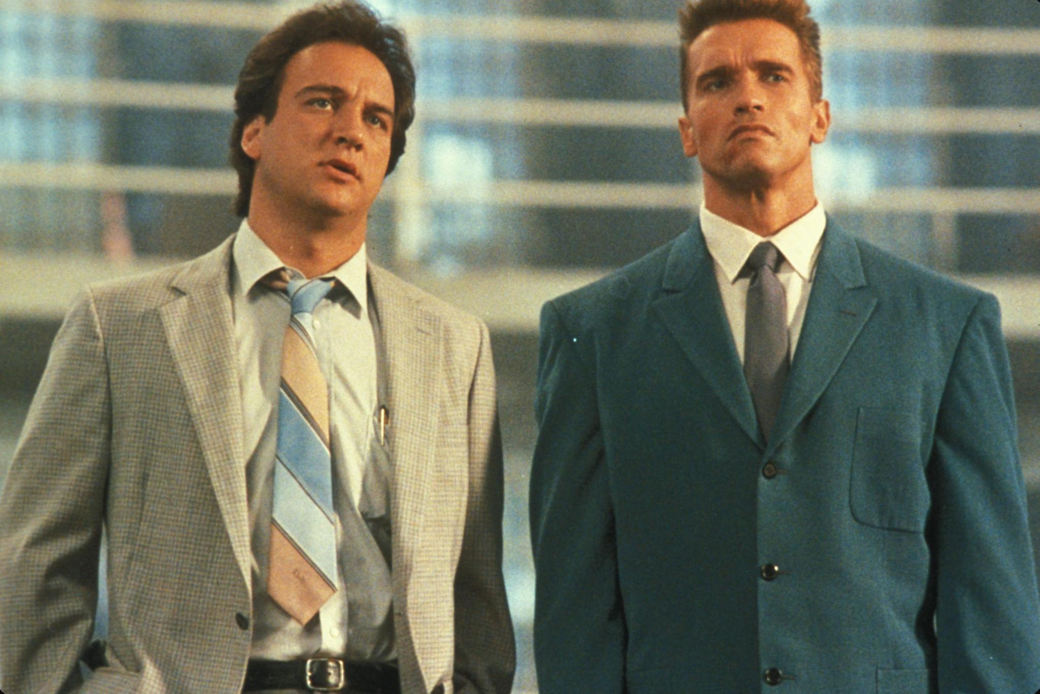 Arnold Schwarzenegger and Jim Belushi in Red Heat (1988)