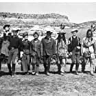 Burt Lancaster, Donald Pleasence, Jim Hutton, Brian Keith, Martin Landau, Lee Remick, John Anderson, Tom Stern, Pamela Tiffin, and Robert J. Wilke in The Hallelujah Trail (1965)