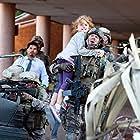 Aaron Eckhart, Michael Peña, and Joey King in Battle: Los Angeles (2011)